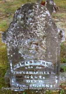 GIST, JAMES THO'S - Scott County, Arkansas | JAMES THO'S GIST - Arkansas Gravestone Photos