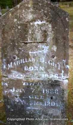 GIST, MARILLAR B - Scott County, Arkansas | MARILLAR B GIST - Arkansas Gravestone Photos