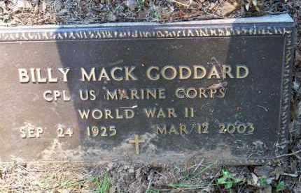 GODDARD  (VETERAN WWII), BILLY MACK - Scott County, Arkansas | BILLY MACK GODDARD  (VETERAN WWII) - Arkansas Gravestone Photos