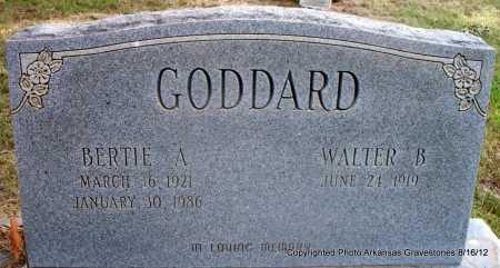 GODDARD, BERTIE A - Scott County, Arkansas   BERTIE A GODDARD - Arkansas Gravestone Photos