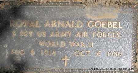 "GOEBEL  (VETERAN WWII), ROYAL ARNALD ""ROY"" - Scott County, Arkansas | ROYAL ARNALD ""ROY"" GOEBEL  (VETERAN WWII) - Arkansas Gravestone Photos"