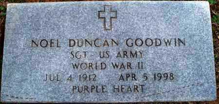 GOODWIN  (VETERAN WWII), NOEL DUNCAN - Scott County, Arkansas | NOEL DUNCAN GOODWIN  (VETERAN WWII) - Arkansas Gravestone Photos