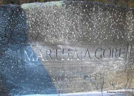 GORE, MARTHA A - Scott County, Arkansas | MARTHA A GORE - Arkansas Gravestone Photos