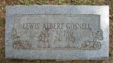 GOSNELL, LEWIS ALBERT - Scott County, Arkansas | LEWIS ALBERT GOSNELL - Arkansas Gravestone Photos