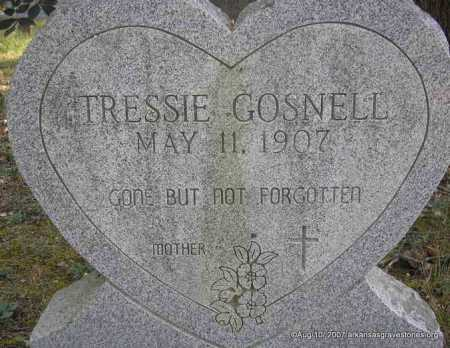 GIST GOSNELL, TRESSIE - Scott County, Arkansas | TRESSIE GIST GOSNELL - Arkansas Gravestone Photos