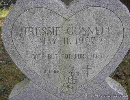 GOSNELL, TRESSIE - Scott County, Arkansas | TRESSIE GOSNELL - Arkansas Gravestone Photos