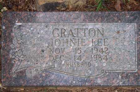 GRATTON, JOHNIE LEE - Scott County, Arkansas | JOHNIE LEE GRATTON - Arkansas Gravestone Photos