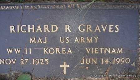 "GRAVES  (VETERAN 3 WARS), RICHARD R "" DICK"" - Scott County, Arkansas | RICHARD R "" DICK"" GRAVES  (VETERAN 3 WARS) - Arkansas Gravestone Photos"