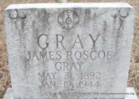 GRAY, JAMES ROSCOE - Scott County, Arkansas   JAMES ROSCOE GRAY - Arkansas Gravestone Photos