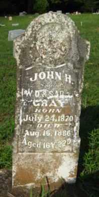 GRAY, JOHN H - Scott County, Arkansas   JOHN H GRAY - Arkansas Gravestone Photos