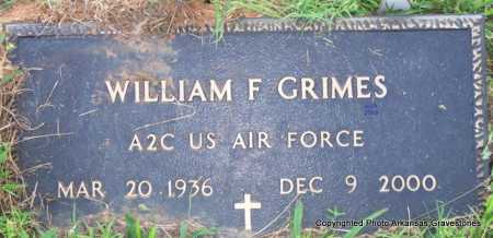 GRIMES  (VETERAN), WILLIAM F - Scott County, Arkansas | WILLIAM F GRIMES  (VETERAN) - Arkansas Gravestone Photos