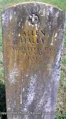 HALEY  (VETERAN MAW), ALLEN - Scott County, Arkansas | ALLEN HALEY  (VETERAN MAW) - Arkansas Gravestone Photos