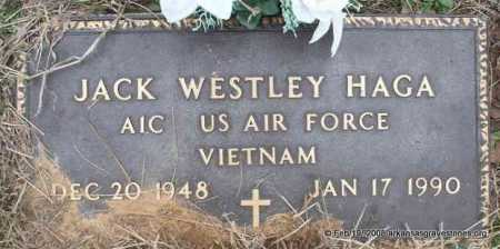 HAGA  (VETERAN VIET), JACK WESTLEY - Scott County, Arkansas | JACK WESTLEY HAGA  (VETERAN VIET) - Arkansas Gravestone Photos