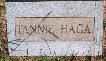 HAGA, FANNIE - Scott County, Arkansas | FANNIE HAGA - Arkansas Gravestone Photos
