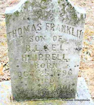HAIRRELL, THOMAS FRANKLIN - Scott County, Arkansas   THOMAS FRANKLIN HAIRRELL - Arkansas Gravestone Photos