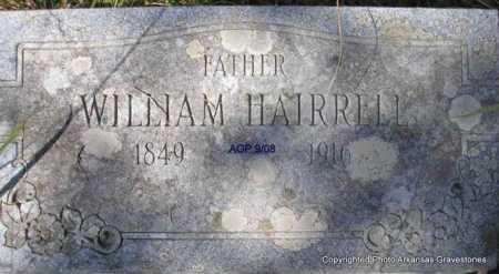 HAIRRELL, WILLIAM - Scott County, Arkansas   WILLIAM HAIRRELL - Arkansas Gravestone Photos