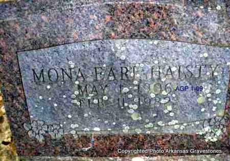 EARL HAISTY, MONA - Scott County, Arkansas | MONA EARL HAISTY - Arkansas Gravestone Photos