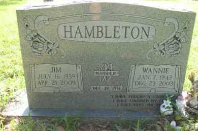 HAMBLETON, JIM  (2ND STONE) - Scott County, Arkansas | JIM  (2ND STONE) HAMBLETON - Arkansas Gravestone Photos