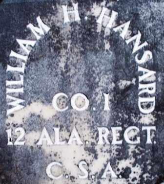 HANSARD  (VETERAN CSA), WILLIAM H - Scott County, Arkansas | WILLIAM H HANSARD  (VETERAN CSA) - Arkansas Gravestone Photos
