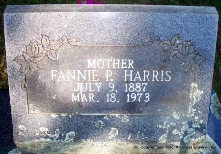 HARRIS, FANNIE P - Scott County, Arkansas   FANNIE P HARRIS - Arkansas Gravestone Photos