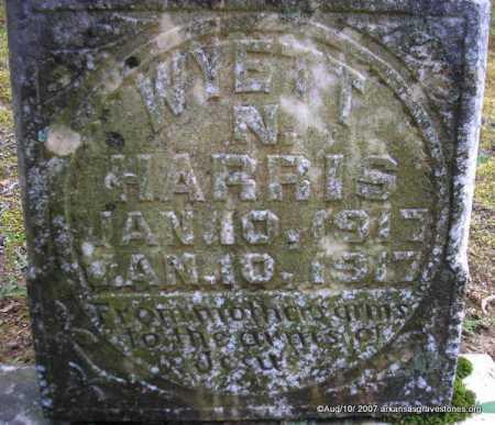 HARRIS, WYETT N - Scott County, Arkansas | WYETT N HARRIS - Arkansas Gravestone Photos