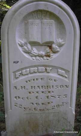 HARRISON, FURBY M - Scott County, Arkansas | FURBY M HARRISON - Arkansas Gravestone Photos