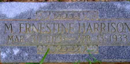 HARRISON, M  ERNESTINE - Scott County, Arkansas   M  ERNESTINE HARRISON - Arkansas Gravestone Photos