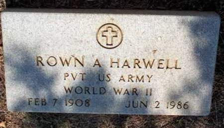 HARWELL  (VETERAN WWII), ROWN A - Scott County, Arkansas | ROWN A HARWELL  (VETERAN WWII) - Arkansas Gravestone Photos