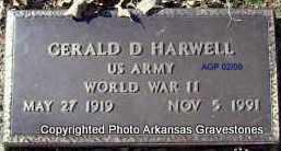 HARWELL (VETERAN WWII), GERALD D - Scott County, Arkansas   GERALD D HARWELL (VETERAN WWII) - Arkansas Gravestone Photos