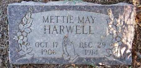 HARWELL, METTIE MAY - Scott County, Arkansas   METTIE MAY HARWELL - Arkansas Gravestone Photos
