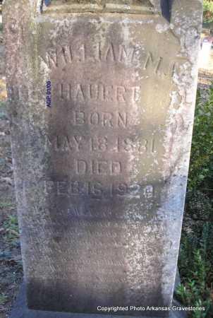 HAUERT, WILLIAM M - Scott County, Arkansas | WILLIAM M HAUERT - Arkansas Gravestone Photos