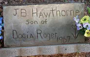 HAWTHORNE, J  B - Scott County, Arkansas | J  B HAWTHORNE - Arkansas Gravestone Photos