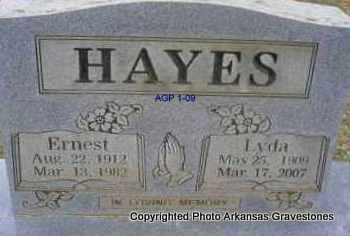 HAYES, LYDA - Scott County, Arkansas | LYDA HAYES - Arkansas Gravestone Photos