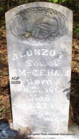 HAYS, ALONZO F - Scott County, Arkansas | ALONZO F HAYS - Arkansas Gravestone Photos
