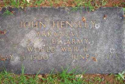 HENSLEY  (VETERAN WWII), JOHN - Scott County, Arkansas | JOHN HENSLEY  (VETERAN WWII) - Arkansas Gravestone Photos