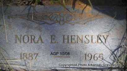 HENSLEY, NORA E - Scott County, Arkansas | NORA E HENSLEY - Arkansas Gravestone Photos