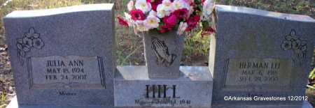 HILL, HERMAN LEE - Scott County, Arkansas   HERMAN LEE HILL - Arkansas Gravestone Photos