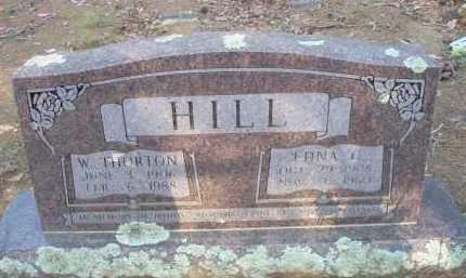 HILL, W  THORNTON - Scott County, Arkansas | W  THORNTON HILL - Arkansas Gravestone Photos