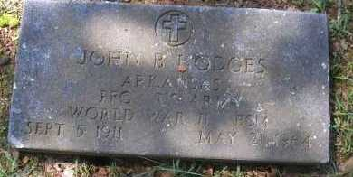 HODGES  (VETERAN WWII), JOHN B - Scott County, Arkansas | JOHN B HODGES  (VETERAN WWII) - Arkansas Gravestone Photos
