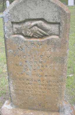 HOLLEY, MARY A - Scott County, Arkansas   MARY A HOLLEY - Arkansas Gravestone Photos