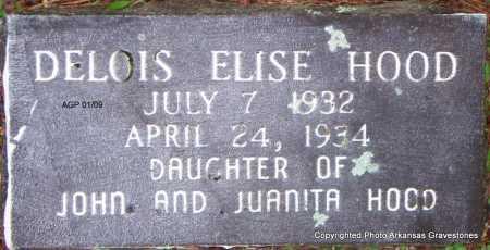 HOOD, DELOISE ELISE - Scott County, Arkansas   DELOISE ELISE HOOD - Arkansas Gravestone Photos