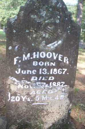 HOOVER, F M - Scott County, Arkansas | F M HOOVER - Arkansas Gravestone Photos