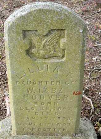 HOOVER, LILLIA F - Scott County, Arkansas | LILLIA F HOOVER - Arkansas Gravestone Photos