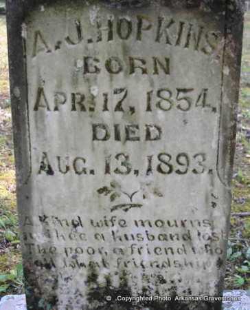 HOPKINS, A  J - Scott County, Arkansas | A  J HOPKINS - Arkansas Gravestone Photos