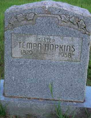 HOPKINS, TEMPA - Scott County, Arkansas | TEMPA HOPKINS - Arkansas Gravestone Photos