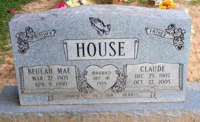 HOUSE, CLAUDE - Scott County, Arkansas   CLAUDE HOUSE - Arkansas Gravestone Photos