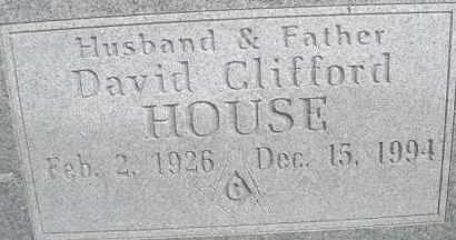 HOUSE, DAVID CLIFFORD - Scott County, Arkansas | DAVID CLIFFORD HOUSE - Arkansas Gravestone Photos