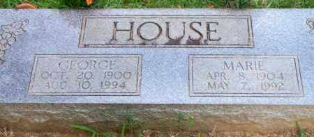 HOUSE, MARIE - Scott County, Arkansas | MARIE HOUSE - Arkansas Gravestone Photos