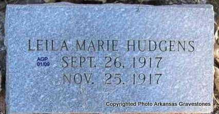 HUDGENS, LEILA MARIE - Scott County, Arkansas | LEILA MARIE HUDGENS - Arkansas Gravestone Photos