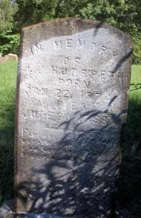 HUDSPETH, L J - Scott County, Arkansas   L J HUDSPETH - Arkansas Gravestone Photos